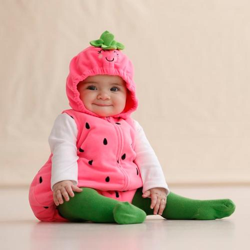 Customer submitted photo  sc 1 st  Carteru0027s & Bite-Sized Strawberry Halloween Costume | Carters.com