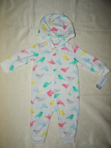 Clothing, Shoes & Accessories Carters Baby Girl 9 Months Zip Up Pink Birdie Hoodie Thicker Weight