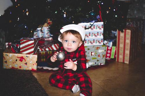 2a7916695 1-Piece Kid Christmas Fleece PJs