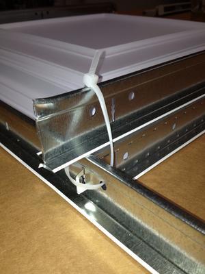 Zip Ties Holding T Bar Grid