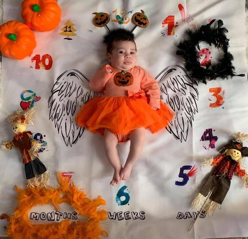 """Details about  /Baby /""""Pretty Little Pumpkin/"""" Halloween Body Suit Baby Outfit Costume  #62006"""