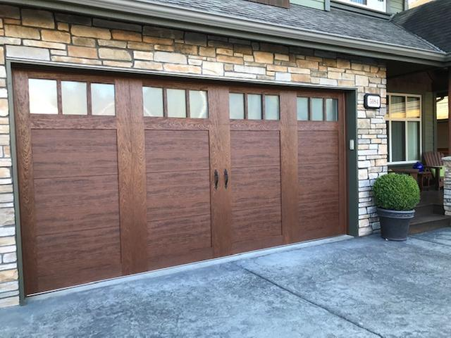 Wood Look Steel Garage Doors Clopay Canyon Ridge Carriage House 4 Layer