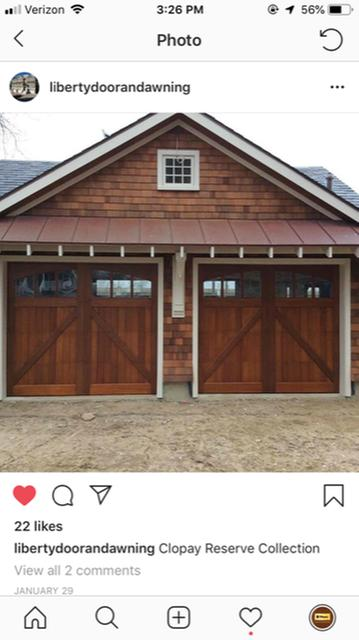Insulated Wooden Carriage House Garage Doors Clopay Reserve