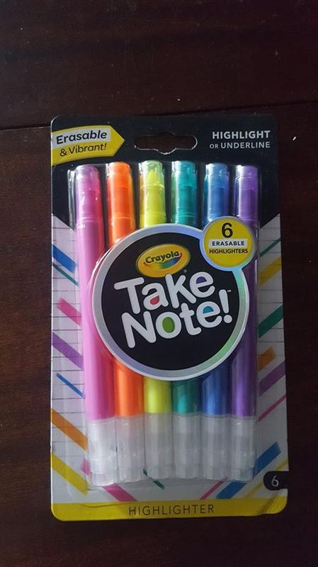 Take Note Erasable Highlighters, 6 Count   Crayola com   Crayola