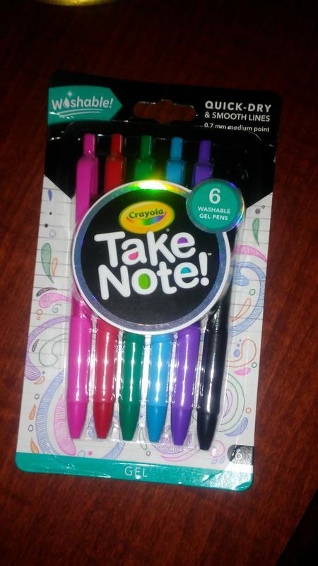 Age 6+ 14Ct Gel Crayola Take Note Medium Point Washable Gel Pens Set