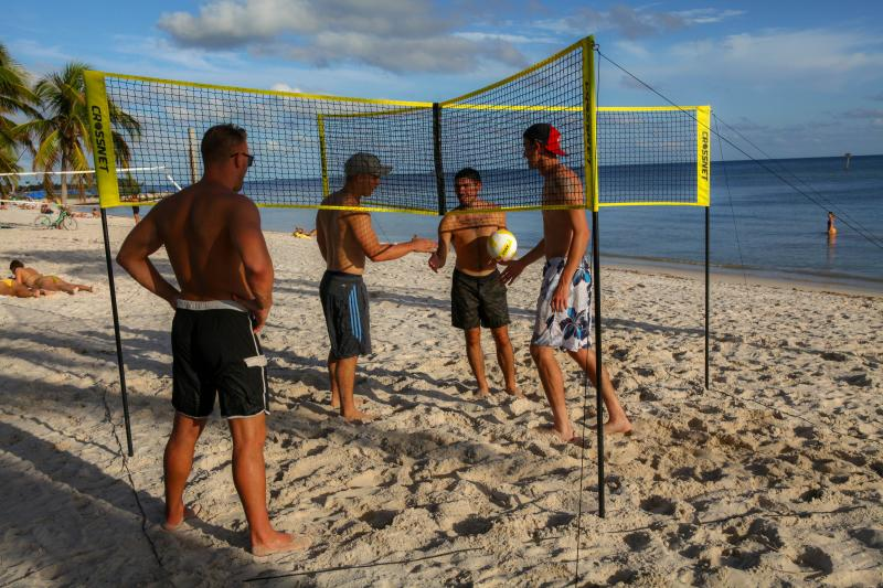 CPSW Folding Crossnet Four Square Volleyball Net and Game Set