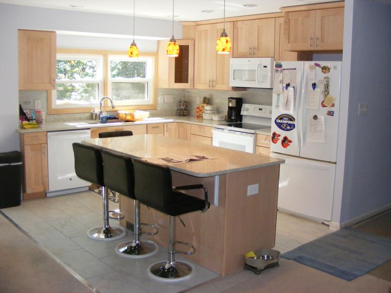 our new open consept kitchen cabinets from american woodmark reading collection   american woodmark  rh   woodmarkcabinetry com