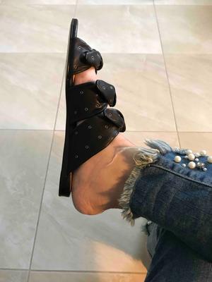53264347985 Pour La Victoire Logan Bow Slide Sandals