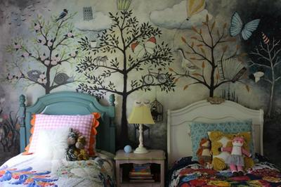 Other Home Decor Enchanted Forest Wall Mural Purple Tree Photo