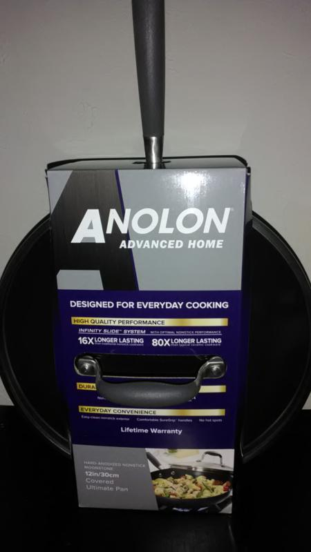 Anolon Advanced Home Hard-Anodized Nonstick Ultimate Pan, 12-Inch, Moonstone