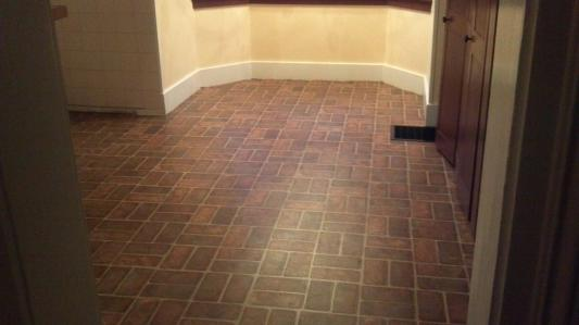 Brick Flooring Vinyl Sheet : Brick pattern vinyl floor tiles matttroy