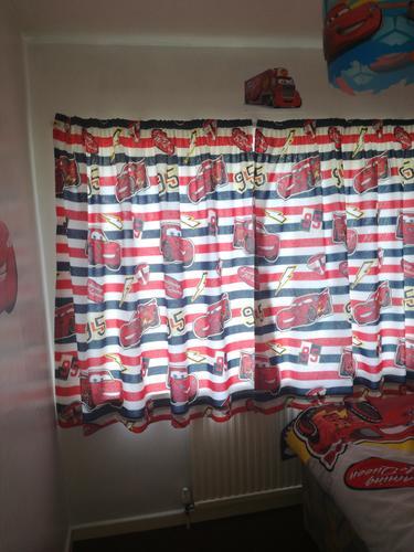 Customer Photos Of Disney Cars Lightning McQueen Curtains
