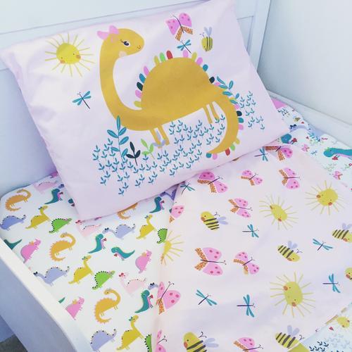 Customer Photos Of Dinosaur Pink Duvet Cover Toddler