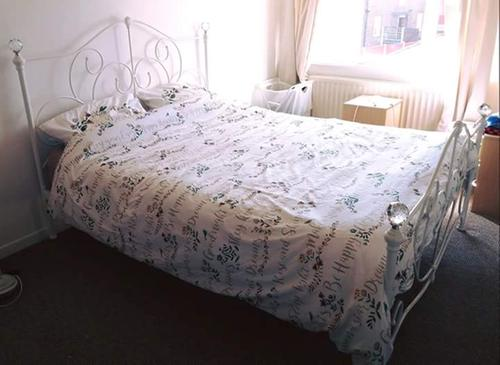Aisha Bed In White King Size Beds George At Asda