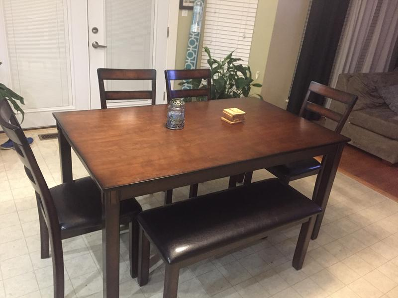 review photo 1 - Dining Room Table With Chairs And Bench