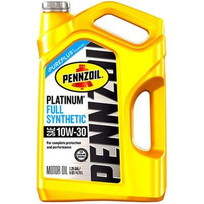 Pennzoil Platinum Full Synthetic 10W-30 5 Quart Engine Oil