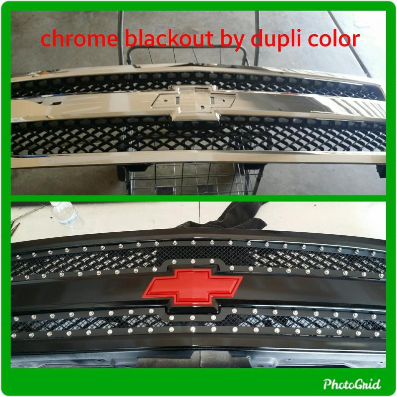 Duplicolor Shadow Chrome Black Out Coating Kit 2 Piece