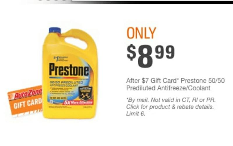 Prestone Antifreeze Engine Coolant Af 2000