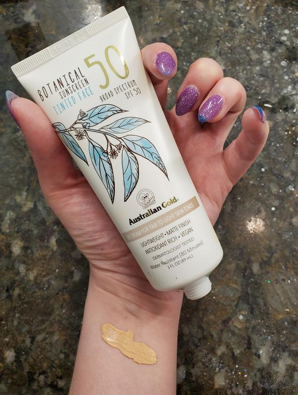 Botanical Spf 50 Tinted Face Sunscreen Lotion Fair To Light