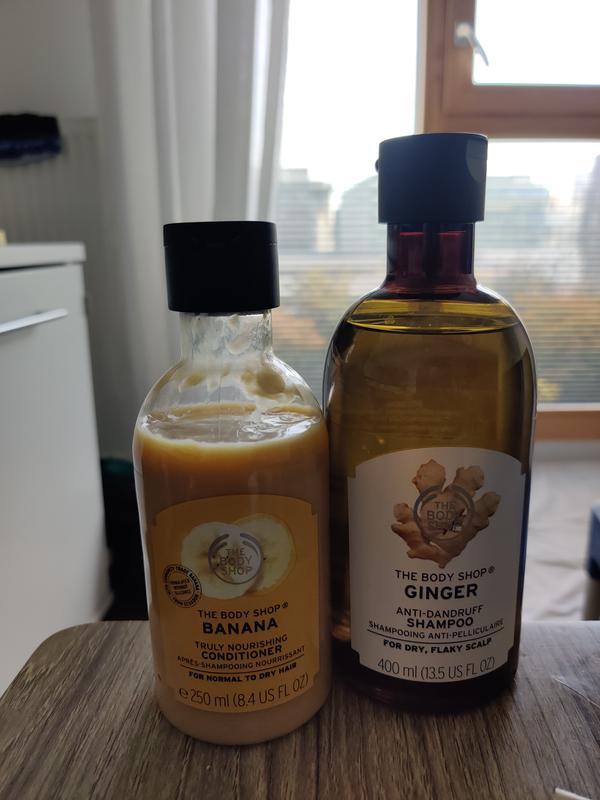 Shampoing anti pelliculaire au ginger et aprés shampoing à la banane