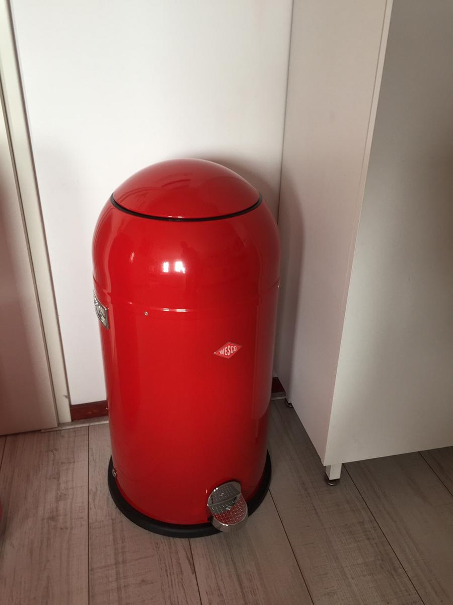 Wesco Liftmaster 40 Liter Rood.Wesco Liftmaster Pedaalemmer 40 L Rood