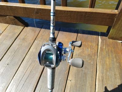 93b5a0f84b3 Bass Pro Shops Johnny Morris Titanium 8 Baitcast Rod and Reel Combo ...