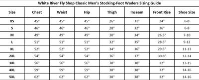 White River Fly Shop Classic Stocking Foot Waders For Men Bass Pro