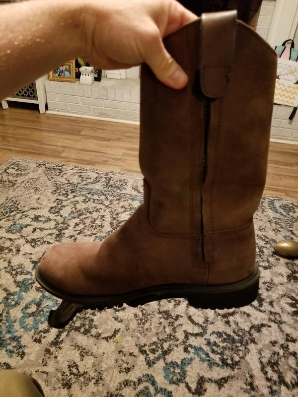 6bf29699d36 RedHead Ironhorse Side-Zip Wellington Waterproof Work Boots for Men ...