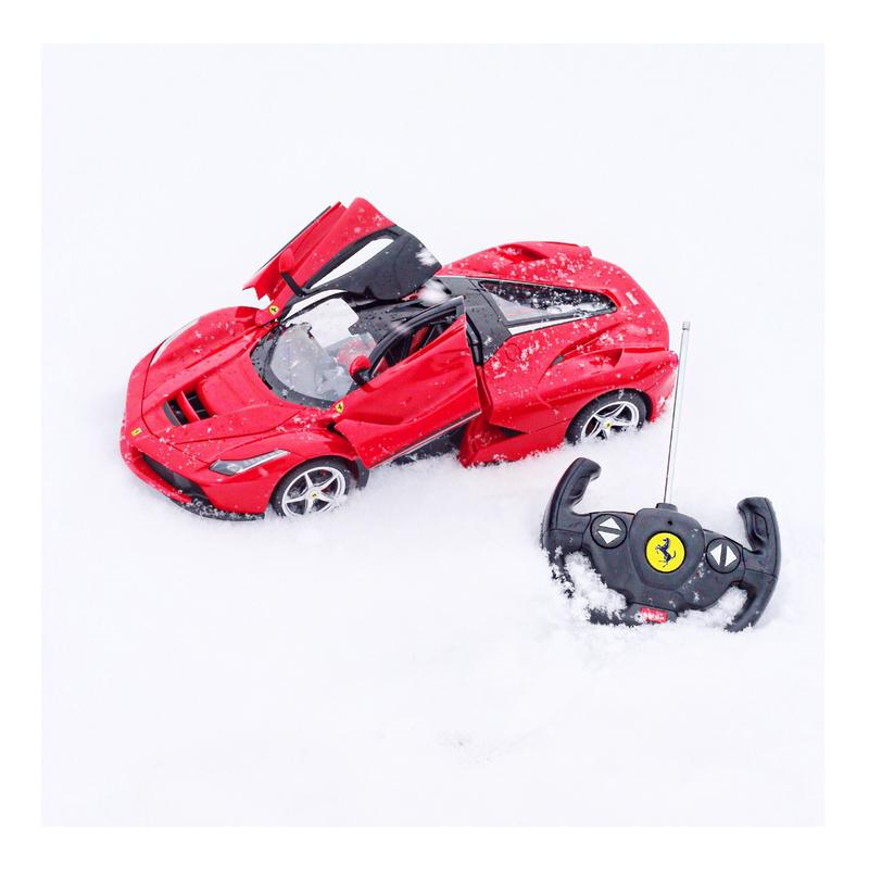 27 MHz 1/14 Scale Kids Ferrari Model RC Toy Car w/ 5 1 MPH Max Speed, Lights