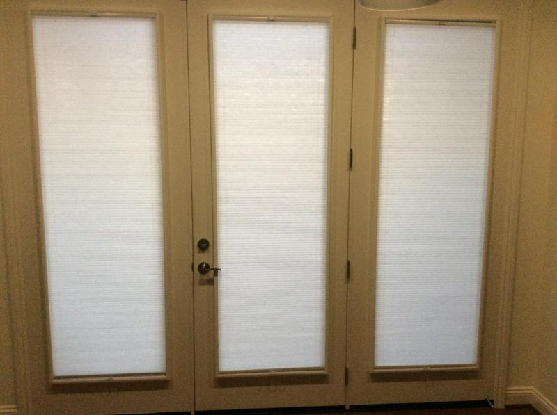 French doors with new slim profile cellular shades. & French Door Light filtering Shade | Blinds.com Pezcame.Com
