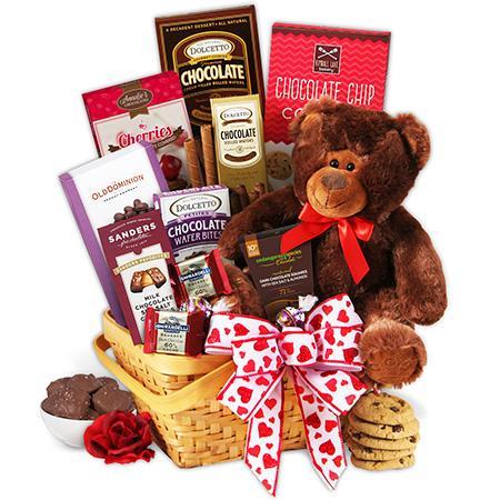 teddy bear & chocolates valentine's day gift basket, Ideas