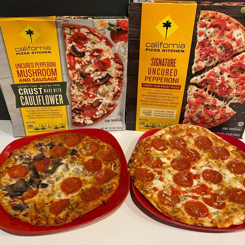 California Pizza Kitchen Uncured Pepperoni Mushroom Sausage Pizza With Cauliflower Pizza Crust 12 4 Oz Fry S Food Stores