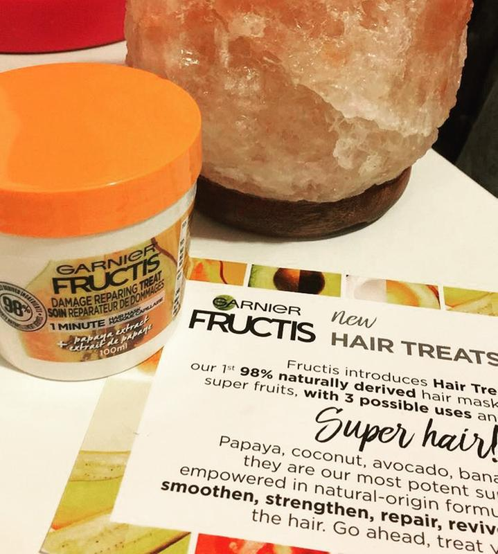 Repairing Treat With Papaya Extract 1 Minute Hair Mask Garnier Fructis