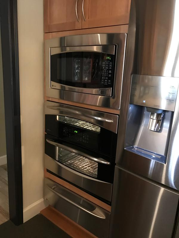 Ge Profile Microwave Single Wall Double Oven And Warming Drawer Combination
