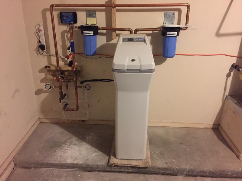 Water softener hook up piping