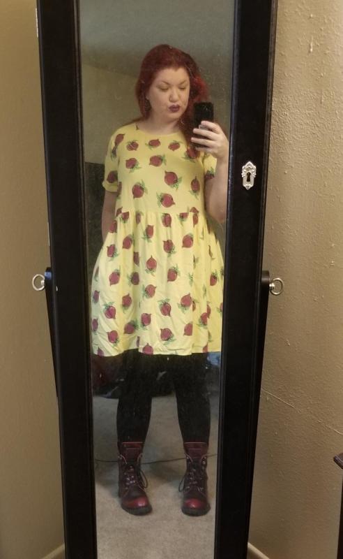 37e77a3275b Beet Print Babydoll Dress