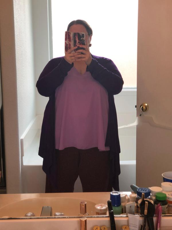 Sleeveless Lavender Top
