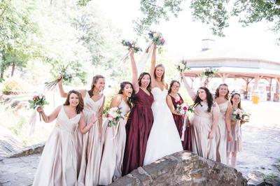4923b15dbc68 Satin Tank Ball Gown Bridesmaid Dress with Pockets | David's Bridal