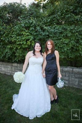 Bride and bridesmaid flashing topic