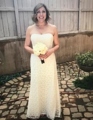 Guipure Lace Sheath Wedding Dress with Ribbon Sash | David\'s Bridal