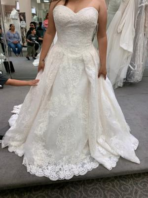 e93e595358ca5 Plus Size Wedding Ball Gown with Lace Appliques   David's Bridal