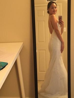 White by Vera Wang Low-Back Wedding Dress | David\'s Bridal