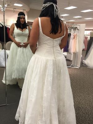 9d9669484ee Truly Zac Posen Lace High Low Tank Wedding Dress