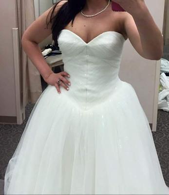 Truly Zac Posen Wedding Dress with Sequin Detail | David\'s Bridal