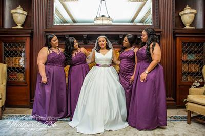 d39d34e8ac Appliqued Illusion Faille Bridesmaid Dress