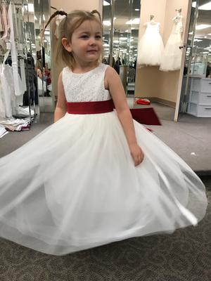 1bc16d38b45 Lace and Mesh Tank Flower Girl Dress