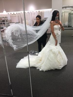30960c61276c White by Vera Wang Organza Petite Wedding Dress | David's Bridal