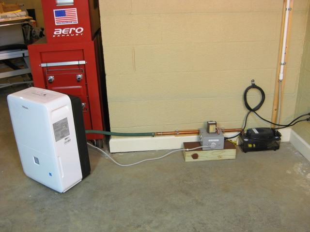 Dehumidifier hook up to sump pump