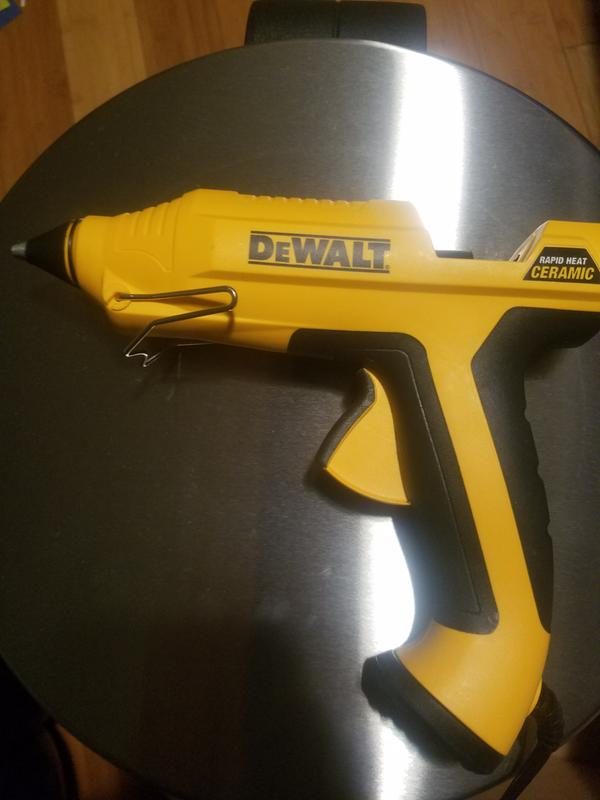 DEWALT Glue Gun Rapid Heat Ceramic Adhesive Home Improvement Tool DIY Project