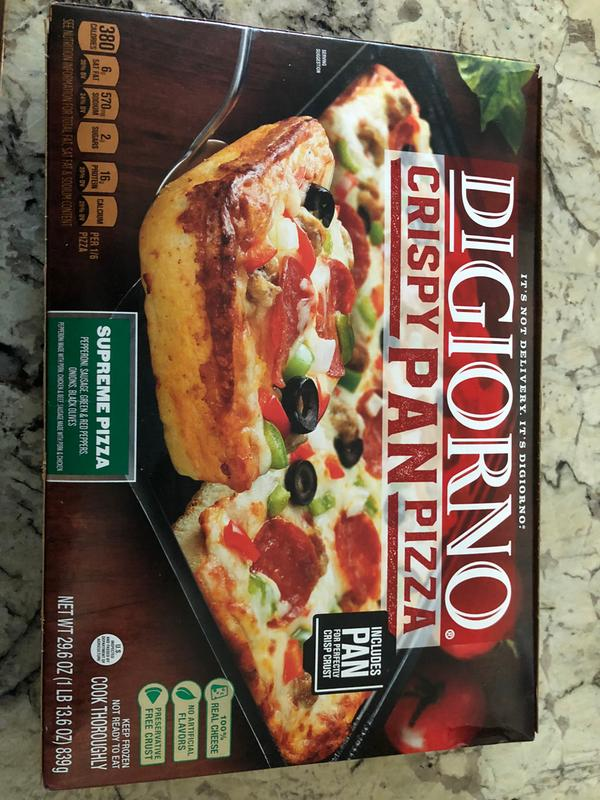 Crispy Pan Pizza   Supreme   DiGiorno